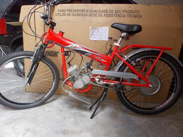 Canadauence TV: Bicicleta Track motorizada 49cc semi nova a venda ...