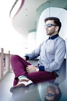 Peter Pan Collared Grey Casual Shirt  Rs. 3,000