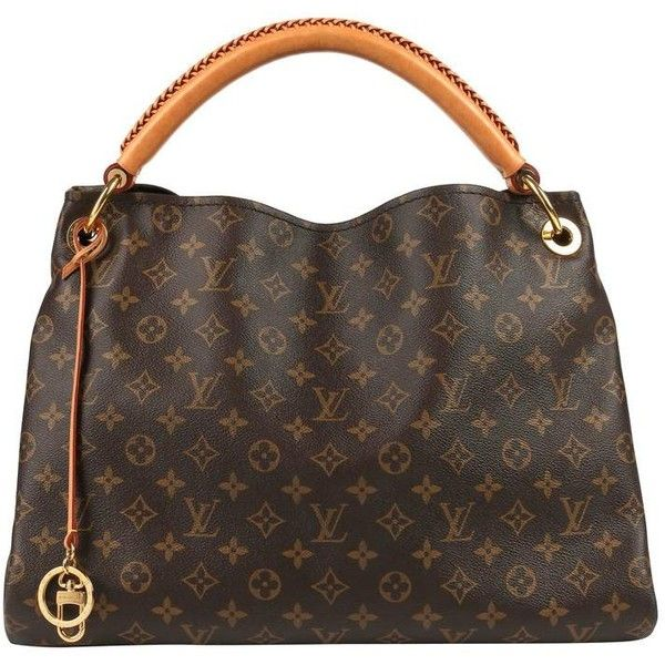 """Preowned Louis Vuitton Monogram Coated Canvas """"artsy Mm"""" Shoulder... ($1,894) ❤ liked on Polyvore featuring bags, handbags, shoulder bags, black, hobo bags, shoulder strap bags, marc jacobs shoulder bag, marc jacobs handbags, man shoulder bag and hand bags"""