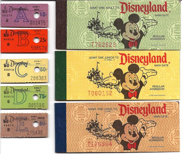 Vintage Disneyland Tickets: Decades of Disneyland Tickets - Part 2 #Disneyland #Tickets