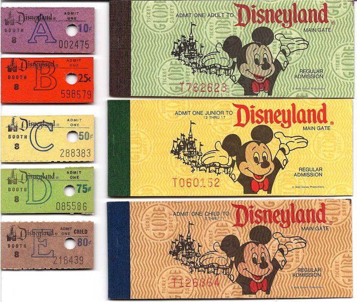 Vintage Disneyland Tickets: Decades of Disneyland Tickets - Part 2 #Disneyland #Tickets
