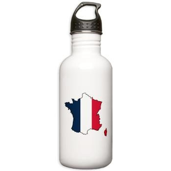 Flag Map of France Stainless Water Bottle 1.0L