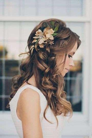 Peinados de novia 2015: Diseños con flores naturales (Foto 10/20) | Ellahoy