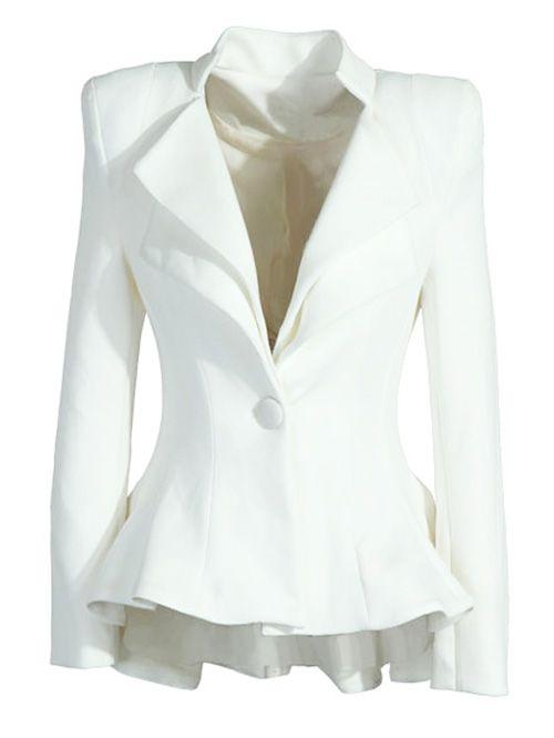 Aliexpress.com: Comprar 2016 cola de golondrina moda para mujer de la chaqueta una Buttton chaqueta mujer tallas grandes blanco chaqueta Femininos mujer abrigo vestido femenino de material de tela fiable proveedores en Wisher
