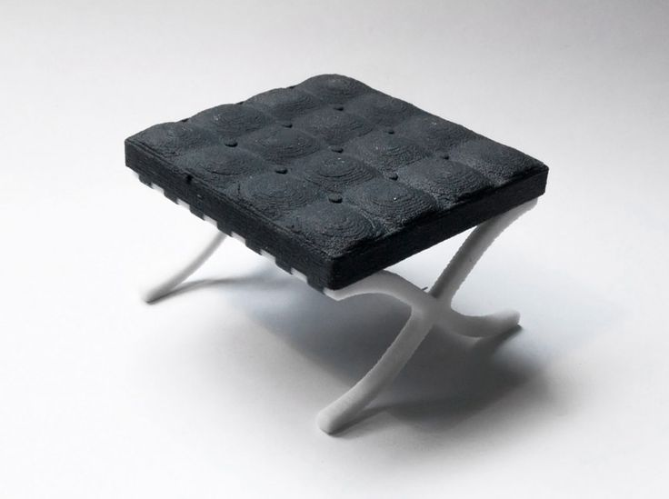 3D printed mini designer chair series by kevin spencer
