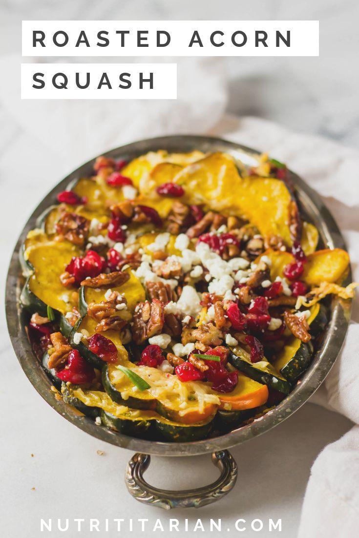 Roasted Acorn Squash With Candied Pecans Recipe Acorn Squash