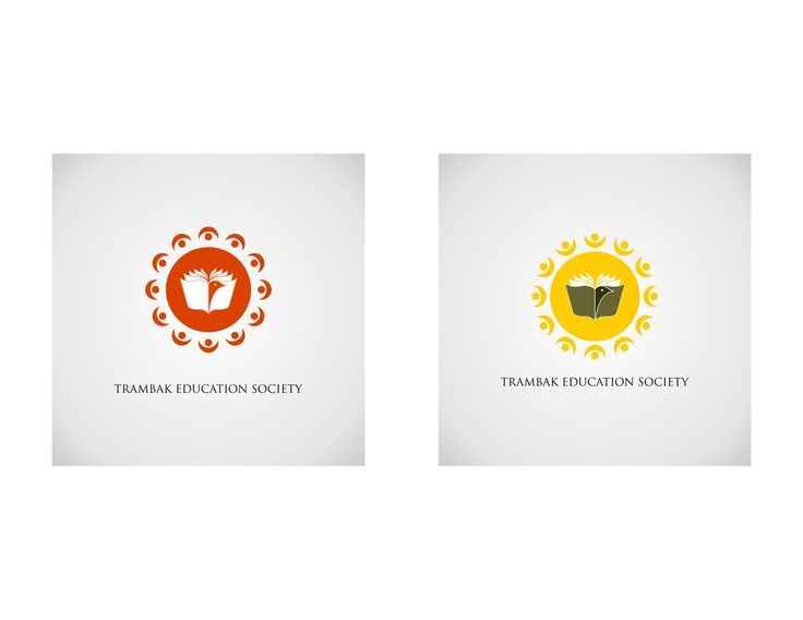 Educational Logo designing in two colour scheme by Graphic Designer Vijay