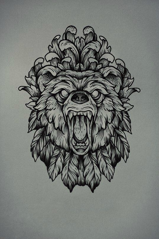 Traditional Bear Tattoo Design Idea