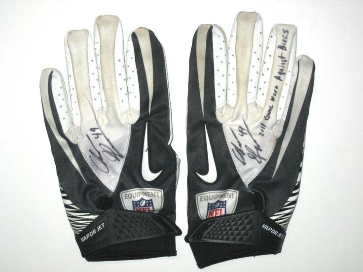 Chris Gronkowski Indianapolis Colts Game Worn & Signed Nike Gloves (Worn Vs Bucs)