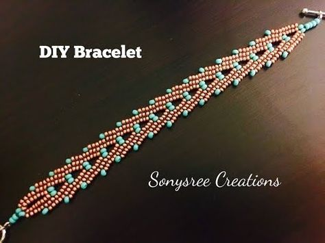 "Stacked ""A"" Bracelet ...Herringbone Stitch - YouTube"