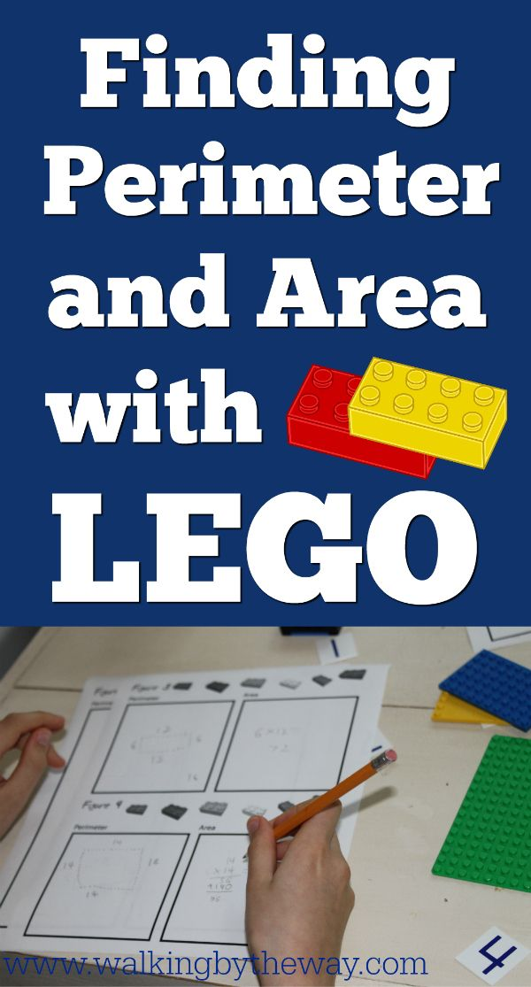 Practice math concepts (perimeter and area) using LEGO bricks!