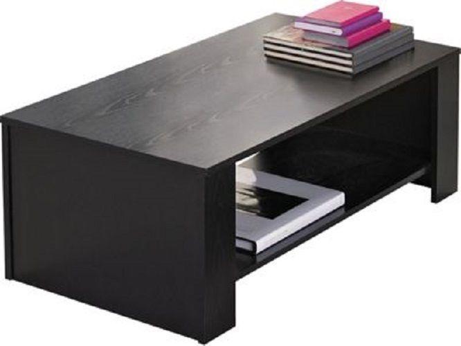 Couchtisch Schwarz Holz Wohn Warte Zimmer Beistell Sofa Kaffee Praxis Tisch Büro