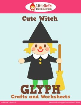 halloween witch glyph craft and worksheets - Halloween Glyphs