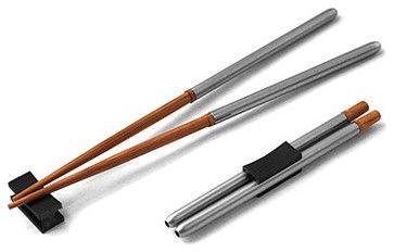 Compact Chopsticks - asian - flatware - UncommonGoods