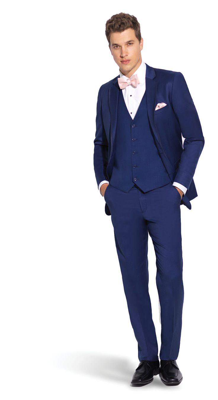 kobaltová modř oblek pro prom.  světle modré prom suit