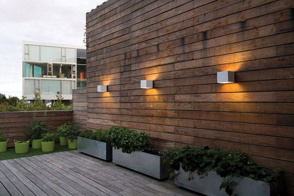 "Welcome outdoor wall lamp at ""Bjerget"" by BIG, Ørestaden CPH"