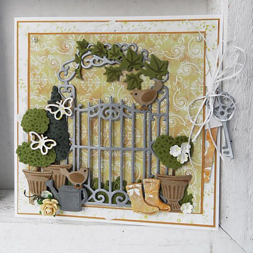 Marianne Design Craftables Dies - Garden Gate CR1304 < Craft Shop | Cuddly Buddly Crafts
