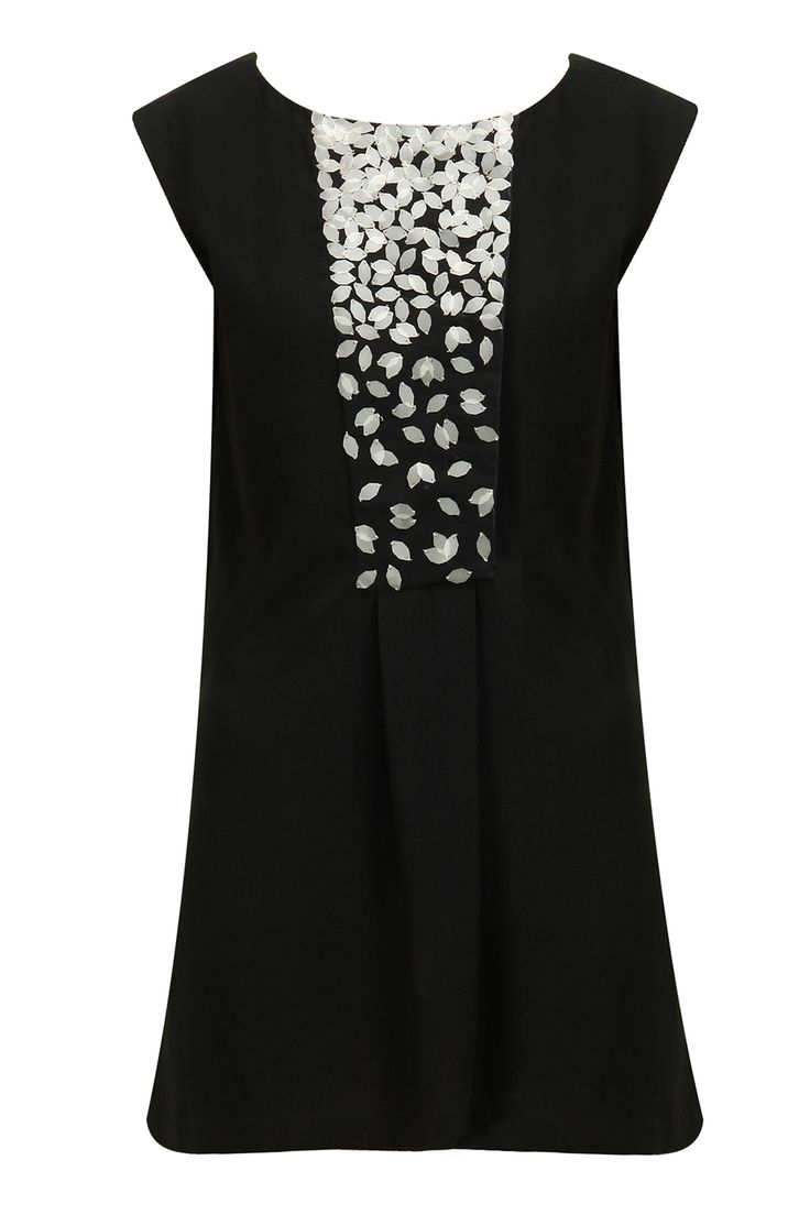 Varun Bahl presents Black sequins embellished short dress available only at Pernia's Pop-Up Shop.