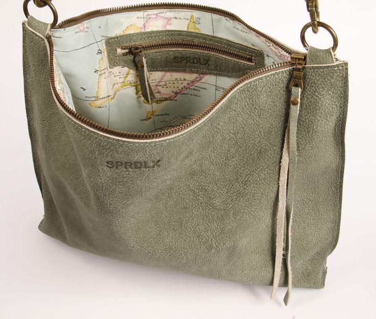 leren schouder tas crossbody leather   SPRDLX.NL handgemaakte leren tassen & shoppers