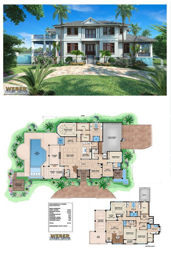 Caribbean House Plan Contemporary Luxury Beach Home Floor
