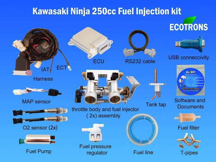 Kawasaki Ninja 250cc EFI kit