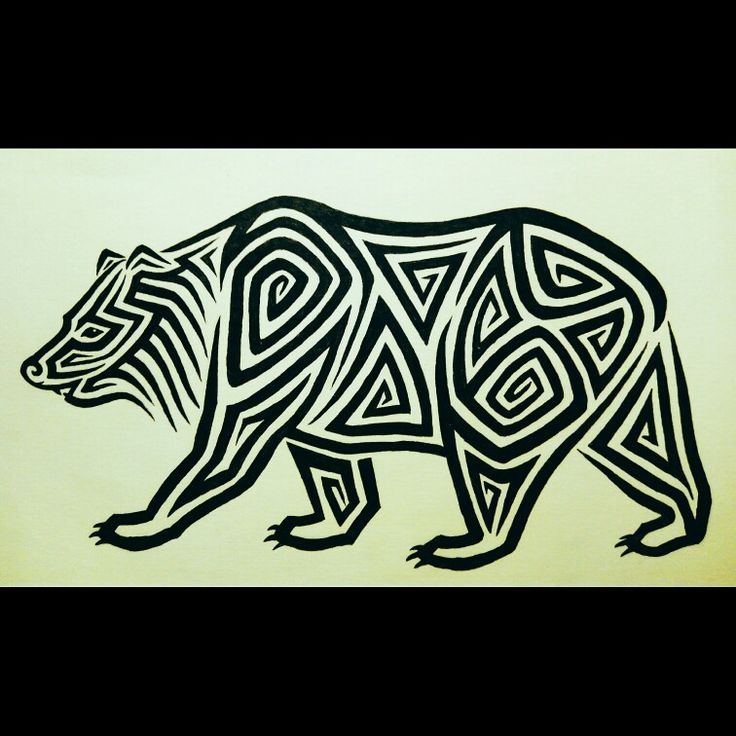Tribal Bear #tribal #bear #drawing #illustration