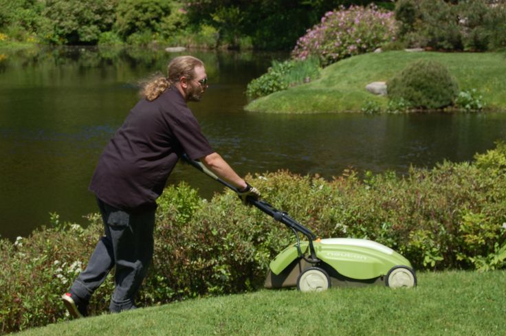 Is there a right and wrong way to mow your lawn? Yes, and we provide all the specifics you need to know in this article. Of course, this guy has a much more inspiring setting in which to do his mowing, but I can't help you there! Read this piece to learn how to do the job right, regardless: http://landscaping.about.com/od/toppicks/ht/lawn_mowing.htm