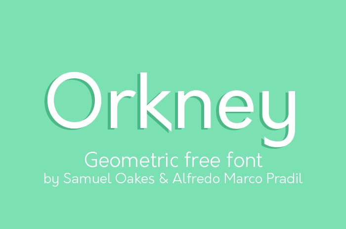 Free font of the day, Orknay. If you like geometric typefaces you will love this nice font! Free for personal and commercial use.  http://alternatype.net/blog/free-font-of-the-day-orkney/