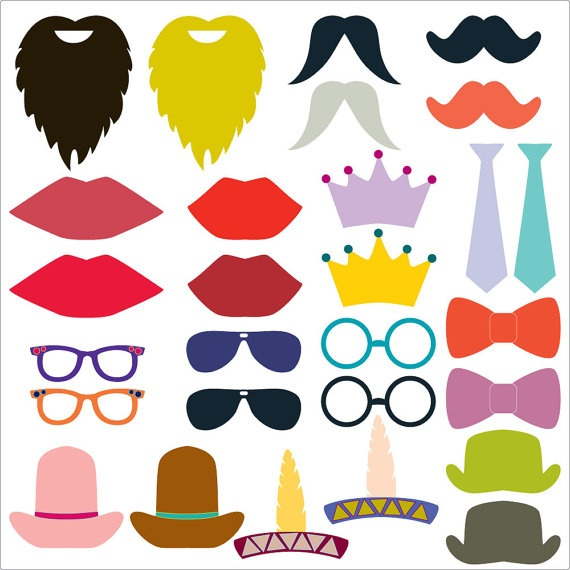 28 printable photobooth props $6