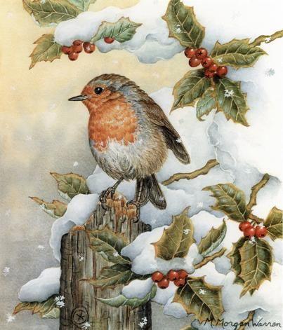 a Christmas  birdie by M. Morgan Warren