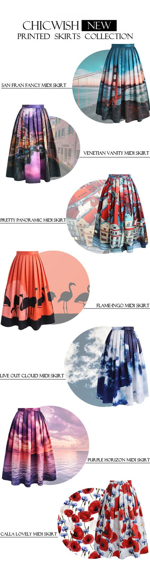 Extra 20% off Storewide  Code: THX20  Ends Nov.10th  Chicwish NEW printed skirts collection. Discover more at Chicwish.com