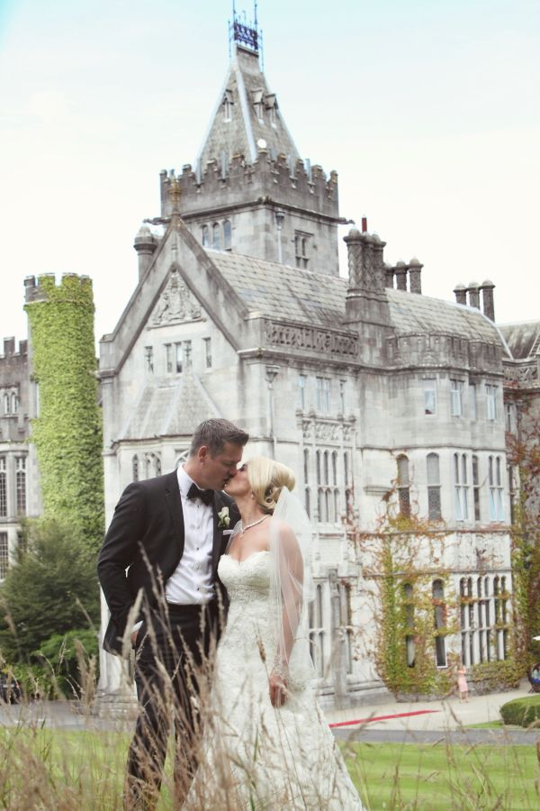 The couple in front of Adare Manor