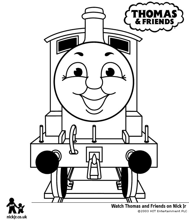 Smile Of Thomas The Train Coloring Pages