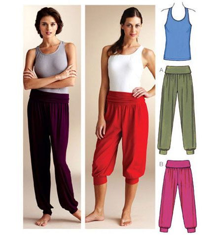 K3835, Top & Pants  Good pattern for custom pants option                                                                                                                                                     More