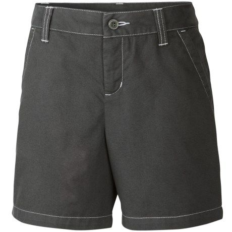 Columbia Sportswear Kenzie Cove Shorts - Cotton Twill (For Little and Big Girls) in Grill/Mirage