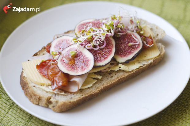 Kanapka z figami / Open fig sandwich