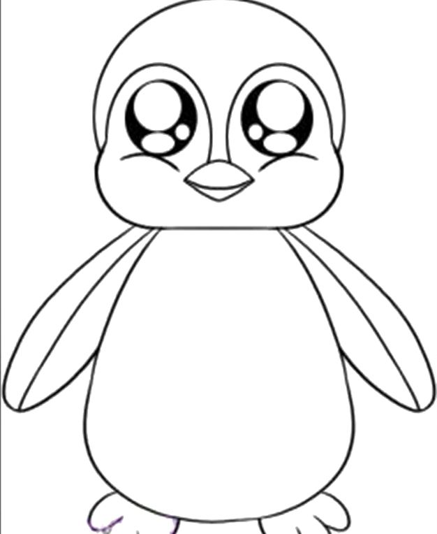 Cute Baby Penguin Coloring Pages | Color | Pinterest ...