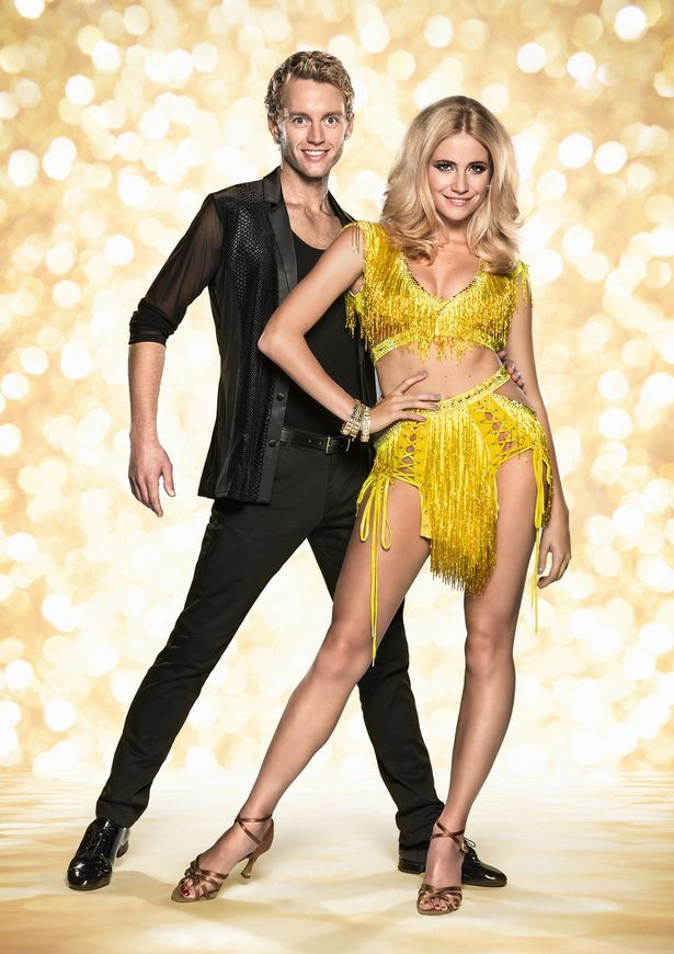 Trent Whiddon and Pixie Lott on Stricly Come Dancing