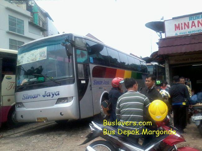 agen bis sinar jaya jakarta depok margonda Bus di Margonda Depok