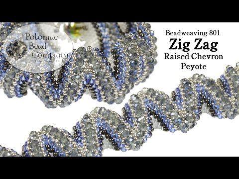 Video:Zig Zag Raised Chevron Peyote Bracelet  ~ Seed Bead Tutorials