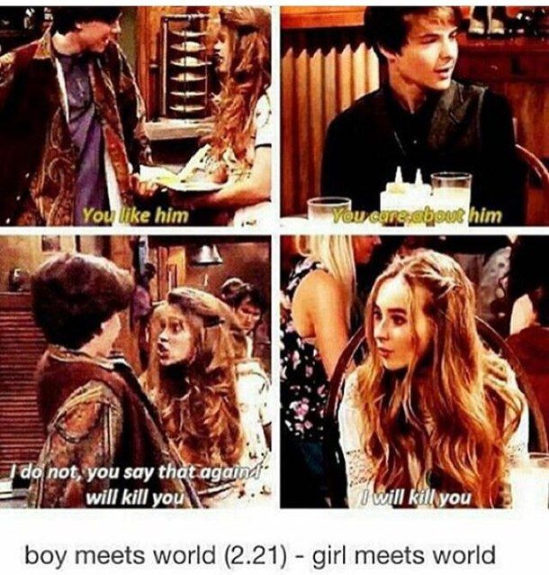 Boy/Girl meets world parallels. Notice how Farkle says care. Caring is a lot different than liking someone. Going to be interesting to see how Lucaya plays out.