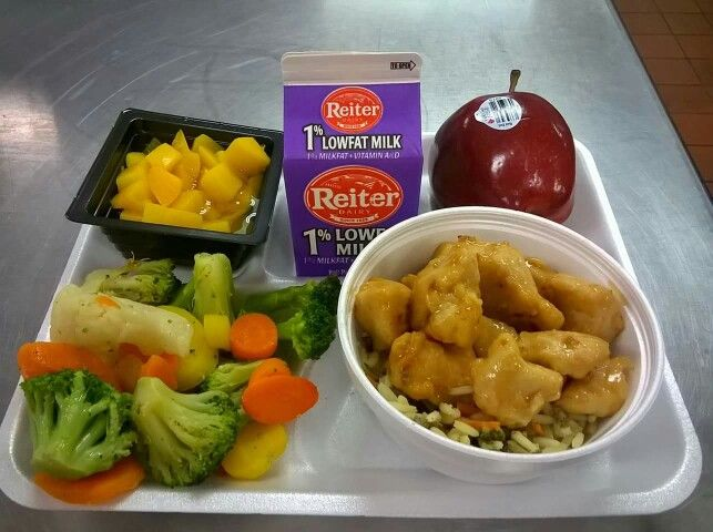 General Tso Chicken Cafeteria Food Work Meals Cafe Food