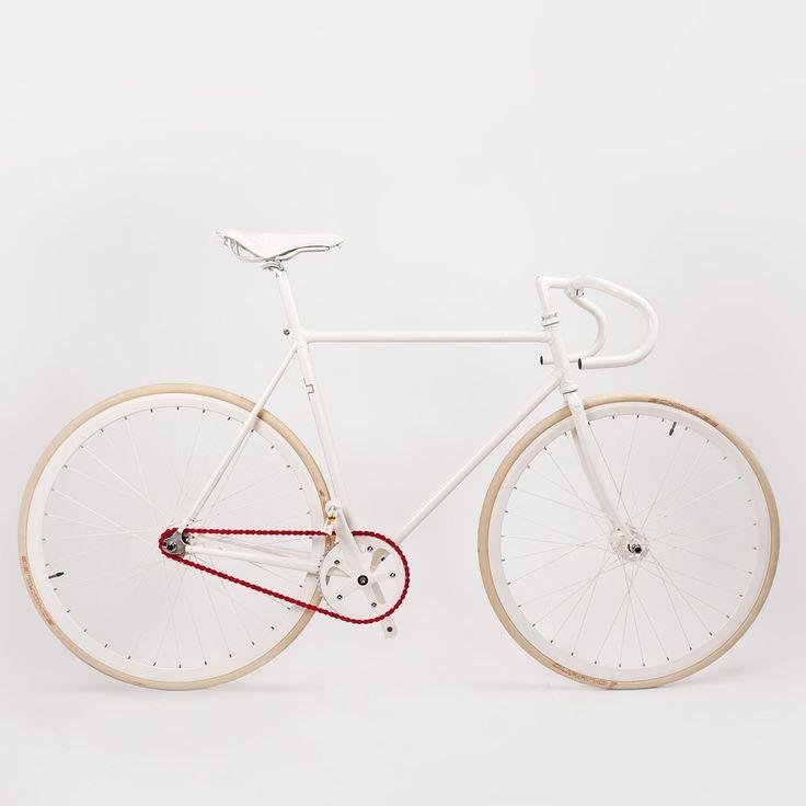 White bike by A.F. Vandevorst for Sleepstreet.