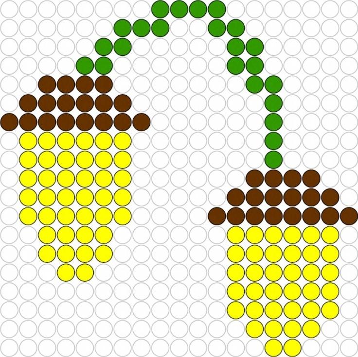 Kralenplank Eikeltjes / accorns beadspattern