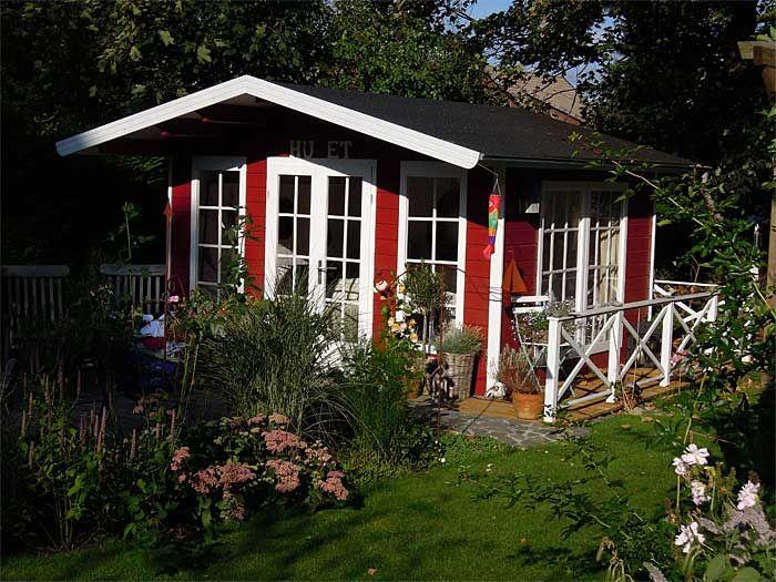 Abendstimmung am schwedischen Gartenhaus (mit Bildern
