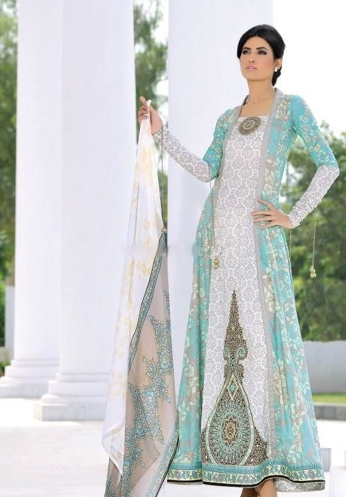 Mehdi - blue and white - pakistani summer fashion