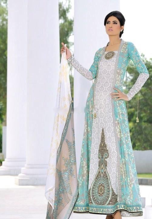 Mehdi - blue and white - pakistani summer fashion