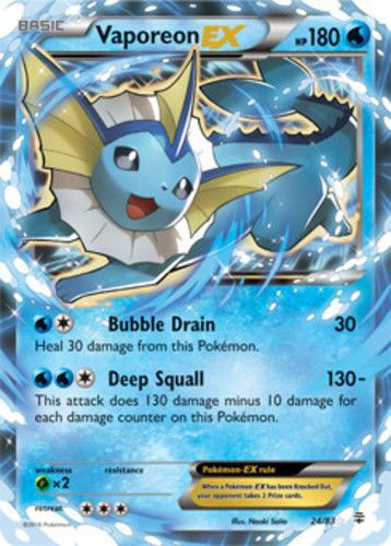 Pokemon Generations Vaporeon EX 24/83 Ultra Rare Near Mint Fast Shipping! | Toys & Hobbies, Collectible Card Games, Pokémon Trading Card Game | eBay!