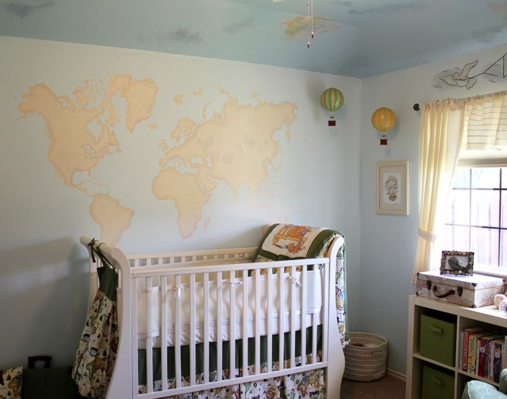 We designed a travel themed nursery for two reasons: we love to travel and also we chose not to find out the gender of our baby and needed a neutral theme.
