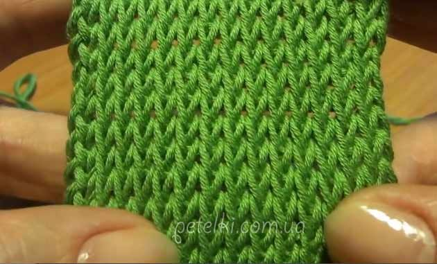 Лицевое полотно крючком. Тунисское вязание. Урок на видео